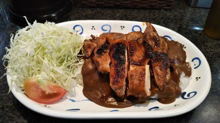 チキン生姜焼きカレー