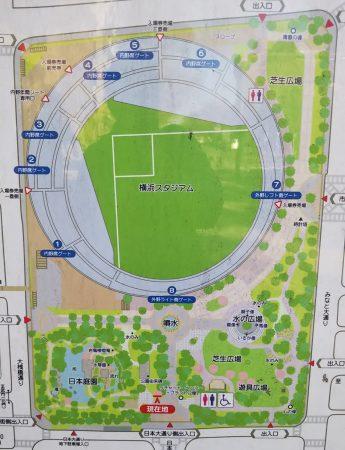 横浜公園案内図