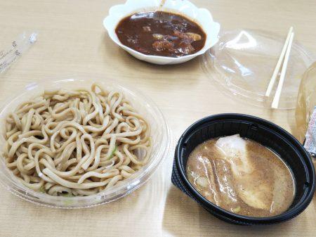 つけ麺とビーフシチュー