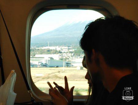 新幹線からの富士山