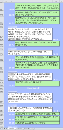 ExcelでLINE