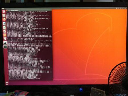 UbuntuのGnomeデスクトップ