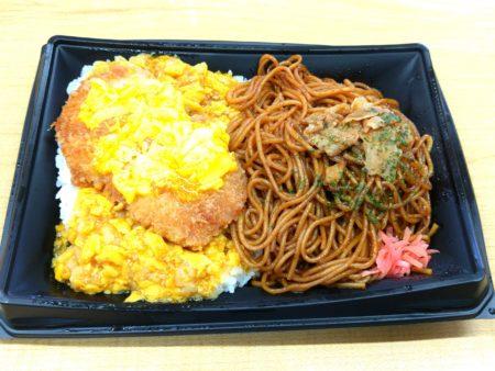 ロースかつ丼&ソース焼そば