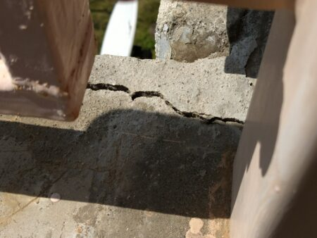 コンクリートの亀裂