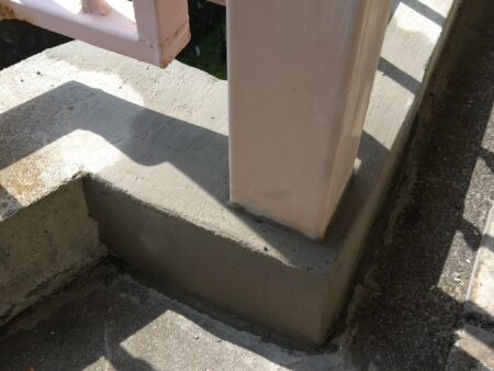 修理したコンクリート